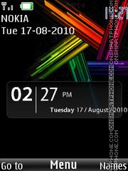 Blackour Clock theme screenshot