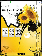 Sunflower Clock 01 theme screenshot
