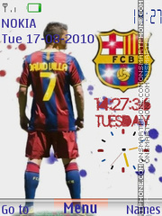 David Villa V Clock theme screenshot