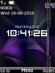 Digital Clock theme screenshot