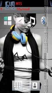 Dj Girl 03 tema screenshot