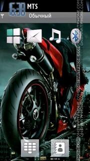 Sport Bike With Tone theme screenshot
