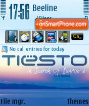 Tiesto In Search theme screenshot