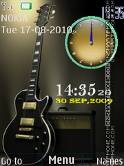 Guitar Dual Clock theme screenshot