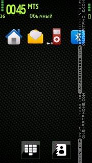 Carbon Green 01 tema screenshot