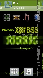 Xpress Music Green 01 theme screenshot