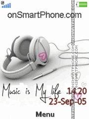 Music Is My Life 01 es el tema de pantalla