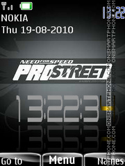 Prostreet flash theme screenshot