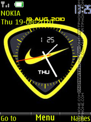Nike Dual Clock theme screenshot