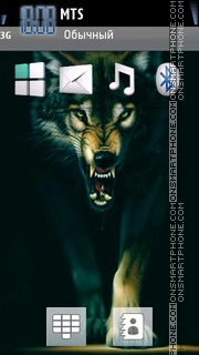 Wolf With ringtone theme screenshot