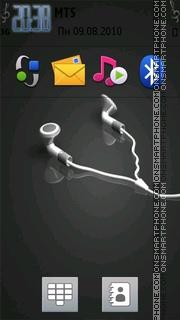 Headphones 02 tema screenshot