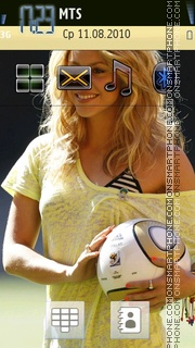 Скриншот темы Shakira 11