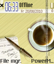 Coffee theme screenshot