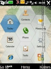 Touchscreen Menu theme screenshot