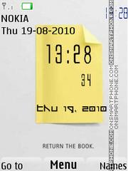 Note Clock theme screenshot