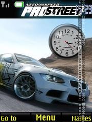 NFS Pro Street Clock es el tema de pantalla