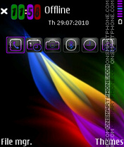 Colorful abstract 01 theme screenshot