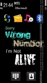 Wrong Number Theme-Screenshot