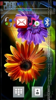 Hd Flower theme screenshot