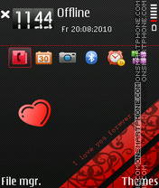 Forever Satio theme screenshot