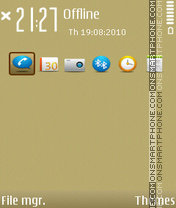 GOLD NSeries 1.2 theme screenshot