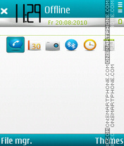 Melody white fp2 theme screenshot