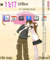 Romantic kiss 03 theme screenshot
