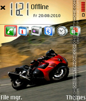 Red Bike 01 theme screenshot