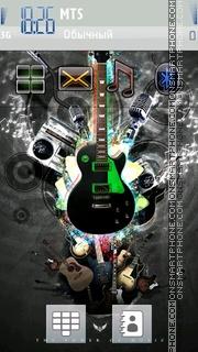 Funky Guitar tema screenshot