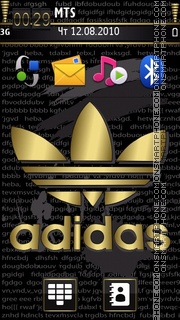 Adidas Gold Di theme screenshot