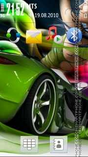 Green Car 02 theme screenshot