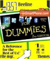 N73 For Dummies es el tema de pantalla
