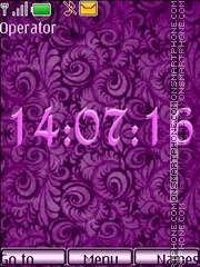 Lilac pattern theme screenshot