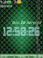 Green pattern theme screenshot