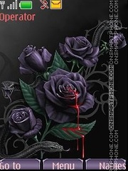 Gothic style rose theme screenshot