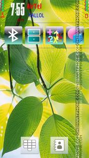 Capture d'écran green Leaf thème