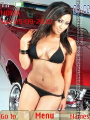 Beautiful Girls Cars 3 theme screenshot