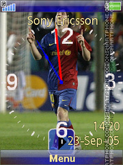 Messi swf tema screenshot