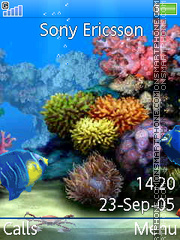 Aquarium tema screenshot