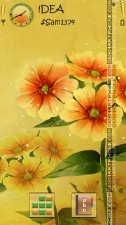 Flowers v5 theme screenshot