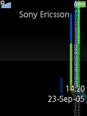 Sharp Blue tema screenshot