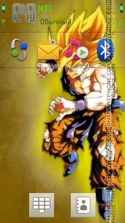 Goku theme screenshot