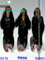 3 Monkeys theme screenshot