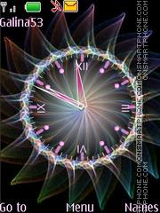 Скриншот темы Analog clock anim