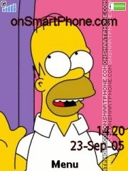 Homer tema screenshot