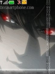 Light Death Note tema screenshot
