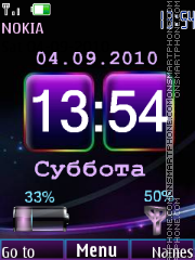 Color clock indicators tema screenshot
