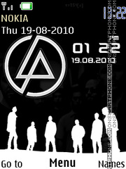 Linkin Park Clock theme screenshot