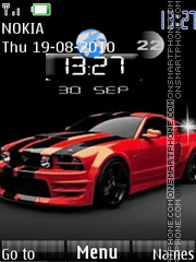 Mustang Clock theme screenshot