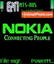 Nokia Green es el tema de pantalla